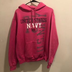 Champion United States Navy pullover hoodie pink